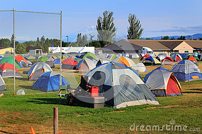 Tent City for Firefighters, volunteers, and servic