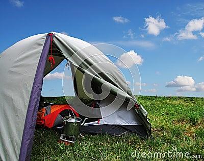 Tent on grass