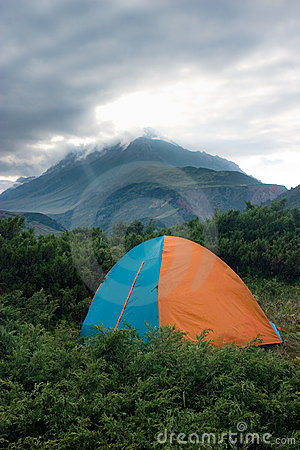 Tent at the mountains.