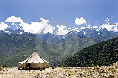 Tent in nature