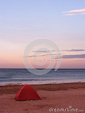 Tent op een strand