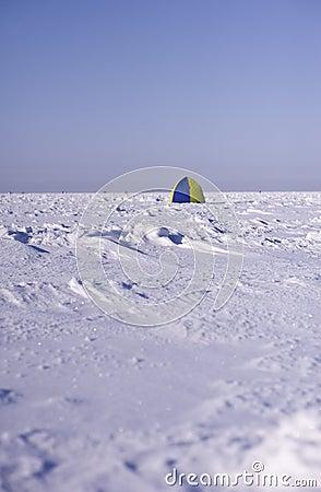 Tent on sea ice