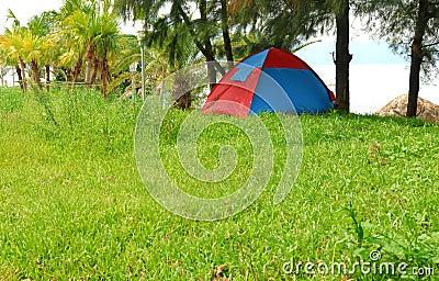 Tent on seaside