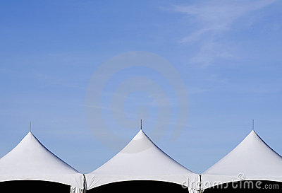 Tent Tops and Sky