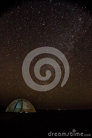 Free Tent Under Starry Sky In Little Rann Of Kutch Stock Photography - 88910052