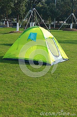 Tent in wild