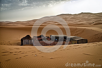 Tented camp in the Sahara desert