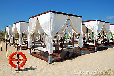 Tents on the beach