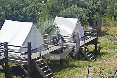 Tents in camping