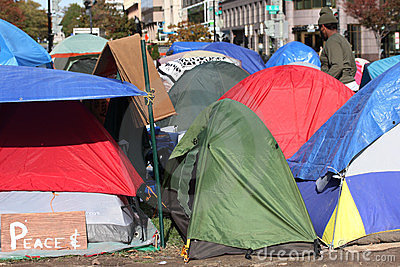 Tents of Occupy DC protesters Editorial Photo