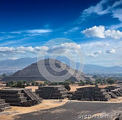 Free Teotihuacan Pyramids Stock Image - 13555051