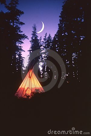 Free Tepee And Moon Royalty Free Stock Images - 2573239