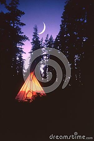 Tepee and Moon