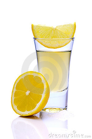 Tequila with lemon