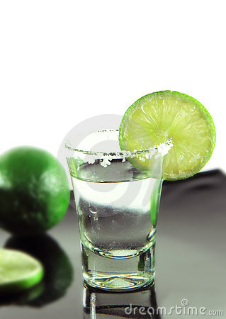 Tequila and lime