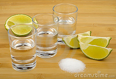 Tequila, lime and salt