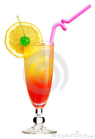 Free Tequila Sunrise Cocktail Royalty Free Stock Photos - 15233968