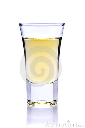 Tequila or whiskey shot