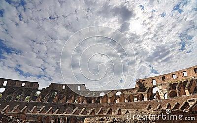 Terenu colosseum Rome miejsca siedzące wierzch