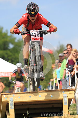 Tereza Hurikova - MTB cross country Editorial Stock Photo