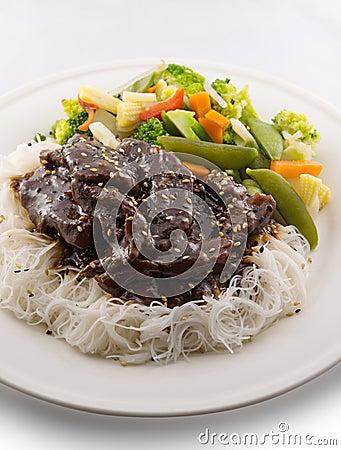 Teriyaki beef meal