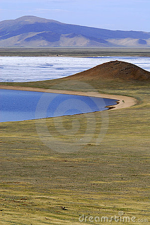 Free Terkh Lake Area, Central Mongolia Stock Photo - 5491550
