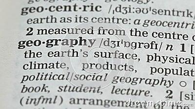 Terme de géographie dans le vocabulaire anglais, affaires et économie, enseignement scolaire clips vidéos