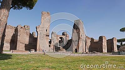 Terme di Caracalla Roman Ruins antique à Rome clips vidéos