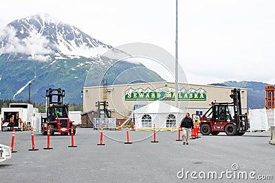 Terminal 2 do navio de cruzeiros de Alaska Seward Imagem Editorial