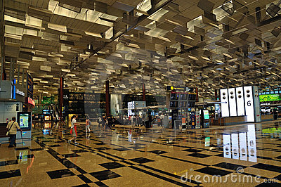 Terminal 3, Changi Airport, Singapore Editorial Stock Image