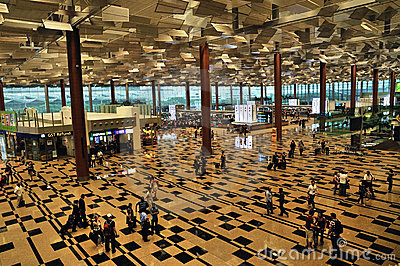 Terminal 3, Changi Airport, Singapore Editorial Image