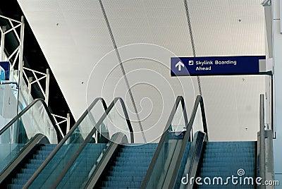 Terminal escalators