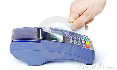 The terminal with a pure credit card