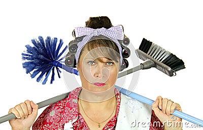 Frumpy Bored Housewife Stock Photography - Image: 9998622