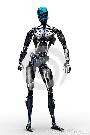 Free Terminator Stand Up Royalty Free Stock Image - 56132626