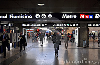 Termini Railway Sation, Rome Italy Editorial Stock Photo