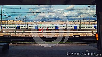 Termini train station Editorial Stock Photo
