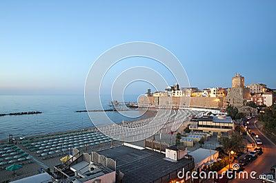 Termoli (Molise, Italy) - The beach at evening