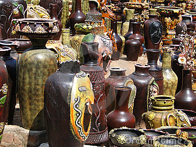 Terra cotta pottery in traditional designs