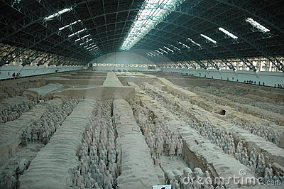 Terra Cotta Warrior Excavation Site
