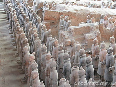 Terra cotta warrior of shanxi china