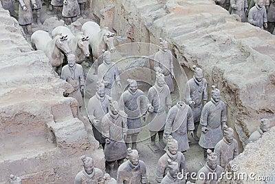Terra cotta warriors excavation