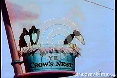 Terra da mancha do peregrino ninho s do corvo de '' ilustração stock
