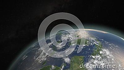 Terra de batida e de queimadura do asteroide ilustração stock