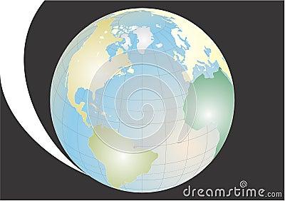 Terra do planeta no universo