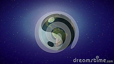 Terra e tao ilustração do vetor