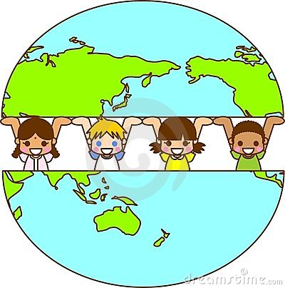 Terra ed i bambini del mondo