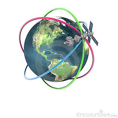 Terra orbitante satellite dello sputnik