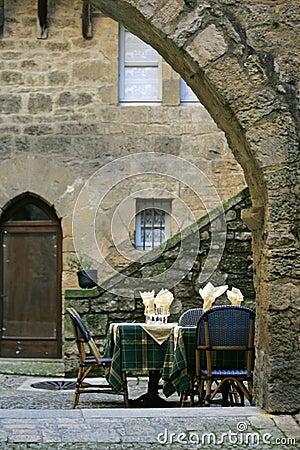 Terrace in france