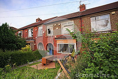 Terrace houses ready to be demolished